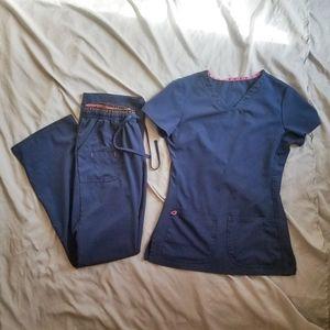 heartSoul Scrub Set - Navy- XXS top/XS pants